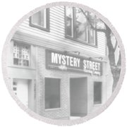 Mystery Daze Mystery Street Round Beach Towel