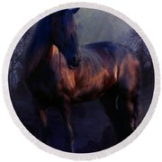 The Wild Mare Round Beach Towel