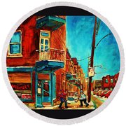 The Wilensky Doorway Round Beach Towel