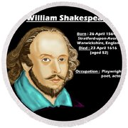 The William Shakespeare Round Beach Towel