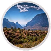 The Window In The Chisos Mountains Round Beach Towel