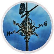 The Winds Of Time Round Beach Towel