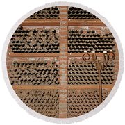 The Wine Cellar Round Beach Towel