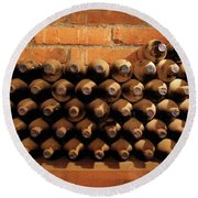The Wine Cellar II Round Beach Towel