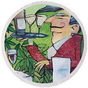 The Wine Steward Round Beach Towel