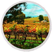 The Winemakers Residence Round Beach Towel