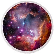 The Wing Of The Small Magellanic Cloud Round Beach Towel