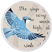 The Wings Of Hope Round Beach Towel