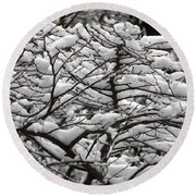 The Winter Has Arrived Round Beach Towel