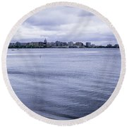 The Wisconsin State Capitol Round Beach Towel