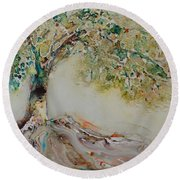 The Wisdom Tree Round Beach Towel