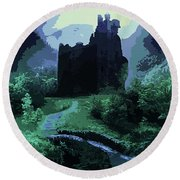 The Witching Hour  Round Beach Towel