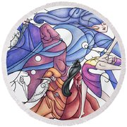 The Wizards Daughter Round Beach Towel