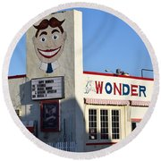 The Wonder Bar, Asbury Park Round Beach Towel
