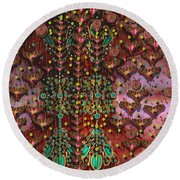 The Wood Of Paradise Round Beach Towel