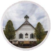 The Woodrow Union Church In Paw Paw West Virginia Round Beach Towel