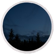 The Woods And The Moon 4 Round Beach Towel