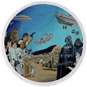 The World Of Star Wars Round Beach Towel