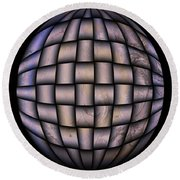 The World Weaved Together Round Beach Towel by Myrna Migala