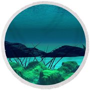The Wreck Diving The Reef Series Round Beach Towel