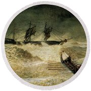 The Wreck Of The Iron Cloud, 1881 Round Beach Towel