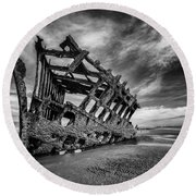 The Wreck Of The Peter Iredale Round Beach Towel