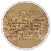 The Writing On The Wall Six Round Beach Towel