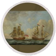 The Yacht Royal Charlotte Round Beach Towel