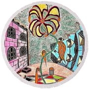 The Yard Round Beach Towel