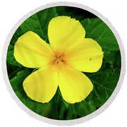The Yellow Flower Round Beach Towel