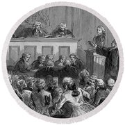 The Zenger Case, 1735 Round Beach Towel by Photo Researchers