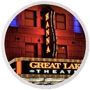 Theater District Close Up Round Beach Towel