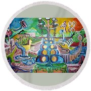 Thematic Colors Lure Round Beach Towel