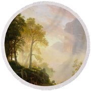 The_merced_river_in_yosemite Round Beach Towel