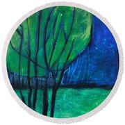 Then Came Evening Round Beach Towel