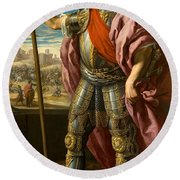 Theodoric King Of The Goths Round Beach Towel