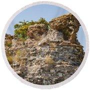 Theodosian Walls - View 1 Round Beach Towel
