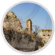 Theodosian Walls - View 10 Round Beach Towel