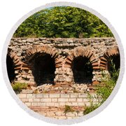 Theodosian Walls - View 13 Round Beach Towel