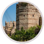 Theodosian Walls - View 3 Round Beach Towel