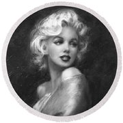 Theo's Marilyn Ww Bw Round Beach Towel