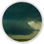 There Be A Nebraska Storm A Brewin 015 Round Beach Towel