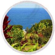 There Is A Paradise - Maui Hawaii Round Beach Towel