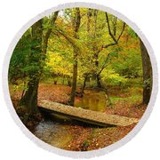 There Is Peace - Allaire State Park Round Beach Towel