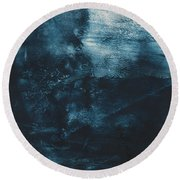 There When I Need You- Abstract Art By Linda Woods Round Beach Towel