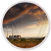 Thermoelectrical Plant Round Beach Towel