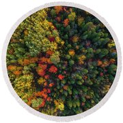 These Are Trees Round Beach Towel