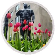 These Tulips Are For You Round Beach Towel