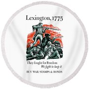 They Fought For Freedom - We Fight To Keep It Round Beach Towel