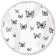 They Might Be Butterflies Round Beach Towel